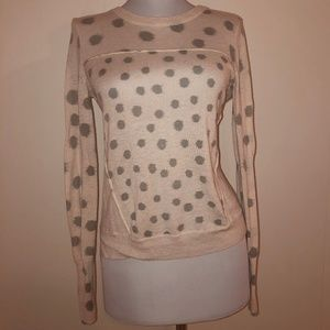 Rebecca Taylor Pink Dots Sweater
